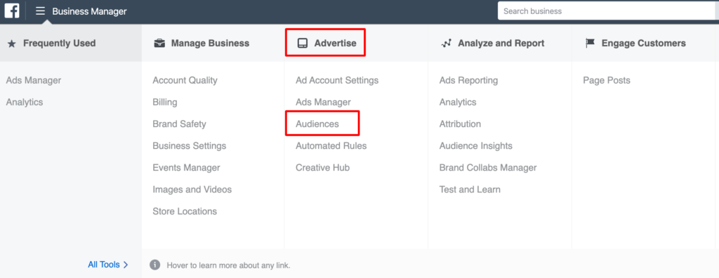 how to create Facebook audiences